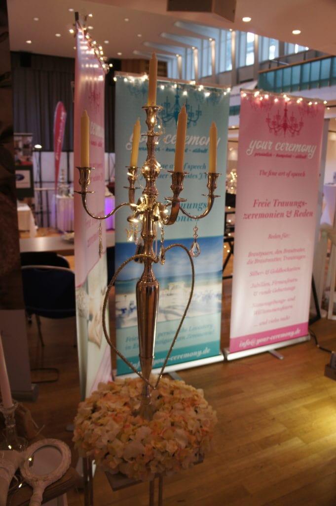 Der your ceremony Kerzenständer auf der Hochzeitsmesse Olpe